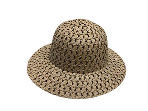 Style Toddler Due paglia Cappello stili Beach Girl Acvip Sun in Travel n pizzo di n cravatte con e RfttHxwaq