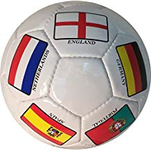Country Flags Soccer Ball - Size 5 - Soccer Ball Decorated With Famous Soccer Playing Country Flags - Great Soccer Gift - Unique Soccer Ball