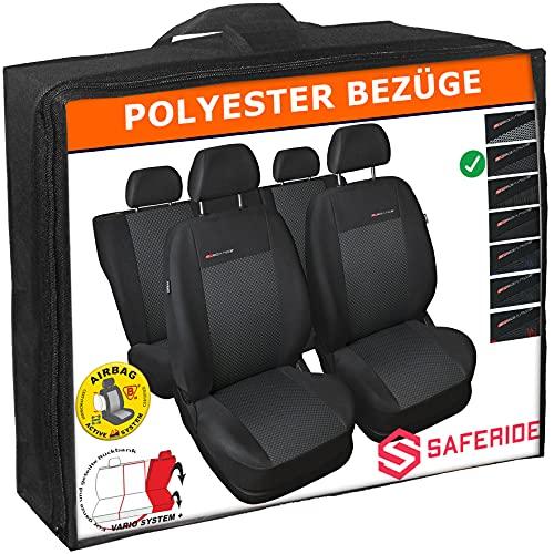 Saferide | Universele grijze stoelhoezen complete set stoelhoes voor auto stoelbeschermer set beschermhoezen autostoel…