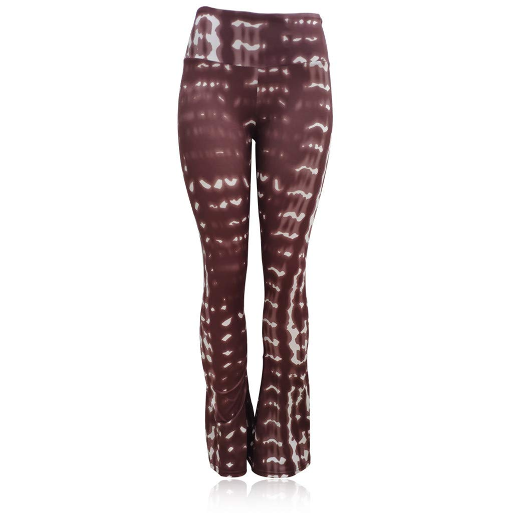 RISTHY Mujer Pantalones Acampanados Pantalones Yoga Tiro Regular ...