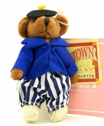 """Russ Tiny Town Miniature Jointed Plush Teddy Bear Nautical Sailor 3-1/2"""" from Russ Berrie"""