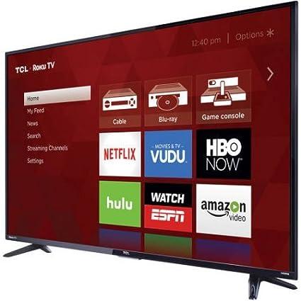 Amazoncom Tcl 55us57 55 4k Ultra Hd 2160p 120hz Roku Smart Led