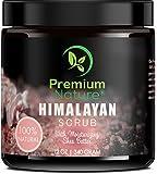 Himalayan Pink Salt Body Scrub - Exfoliating Face Hand Lip Foot & Body Scrub with Sea Salt Shea Butter & Essential Oils, Acne Treatment, Natural Skin Exfoliator, Stretch Mark Scar & Cellulite Remover