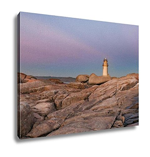 Ashley Canvas, The Lighthouse Of Muxia At Sunset Muxía A Coruna Spain, Home Decoration Office, Ready to Hang, 20x25, AG6253201 by Ashley Canvas