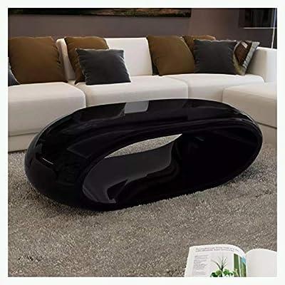 K&A Company Coffee Table Fiber Glass High Gloss Black