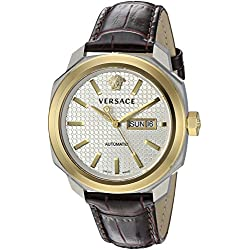 Versace Men's VQI020015 DYLOS AUTOMATIC DAY Analog Display Swiss Automatic Brown Watch