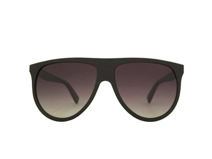 e2fbf6f37f Image Unavailable. Image not available for. Colour  LaBante Ebony Wood   Sophia  Aviator Womens Mens Retro Polarised Sunglasses Black