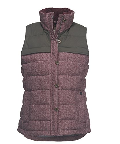 Woolrich Women's Bitter Chill Wool Loft Vest, BURGUNDY (Red), Size (Woolrich Wool Blazer)