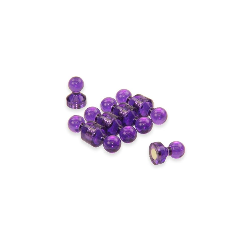 Magnet Expert® Petit violet acrylique pousser épingle aimant, 11mm diamètre x 17mm grand, 1 pack de 10 11mm diamètre x 17mm grand Magnet Expert® F4M11-PU-1