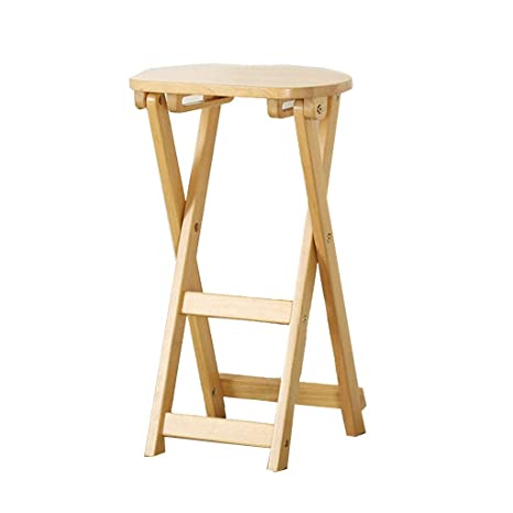 Phenomenal Amazon Com Solid Wood Folding Stool Home Portable Low Pabps2019 Chair Design Images Pabps2019Com