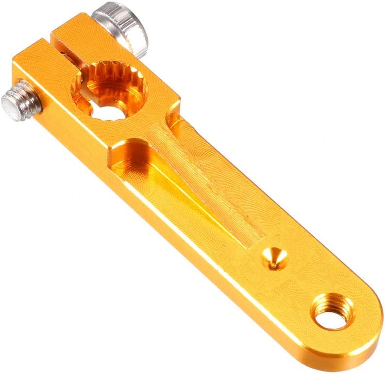 for 3 Inch JR uxcell Aluminum Servo Arms Double Arm 23T M3 Thread Yellow