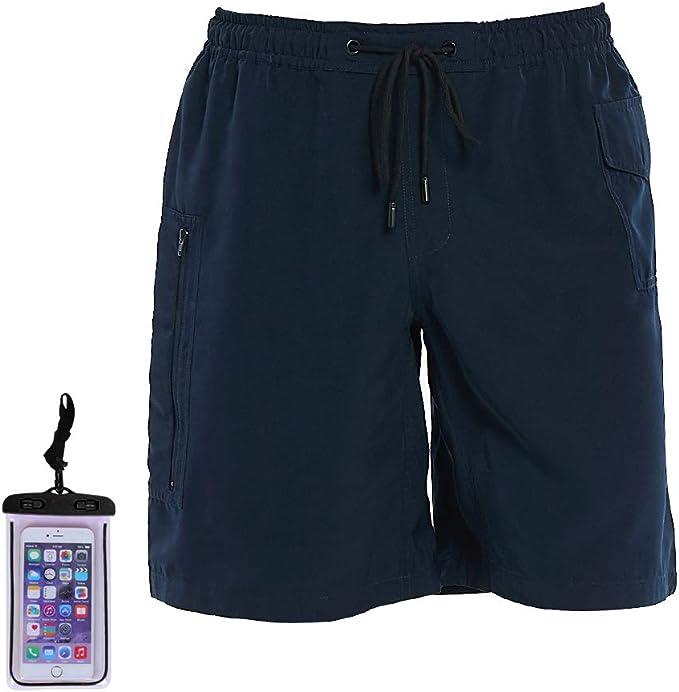 BALCONY /& FALCON Mens Board Shorts with Pockets Quick Dry Swim Trunks Mesh Lining Lightweight Sportswear Beach Causal