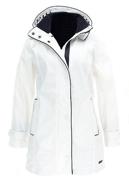 Capitán Corsaire - Abrigo para mujer, color blanco, tamaño XXL: Amazon.es: Ropa y accesorios