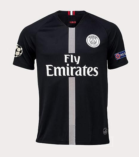 11b7b07f652 Amazon.com: Redrun PSG X 18/19 Season 7# Mbappe Mens Away Soccer Jersey &  Armbands Black/White: Clothing