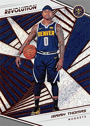 abbb3deb82fd Amazon.com  2018-19 Panini Revolution Basketball  46 Isaiah Thomas Denver  Nuggets Official NBA Trading Card By Panini  Collectibles   Fine Art