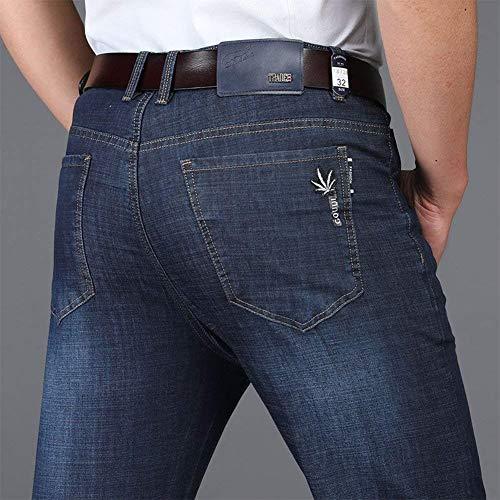 Jeans Business Da Sezione Diritti Pantaloni Stil1 Lavoro Larghi Denim A Ufige Uomo Slim Fit Txwz4x