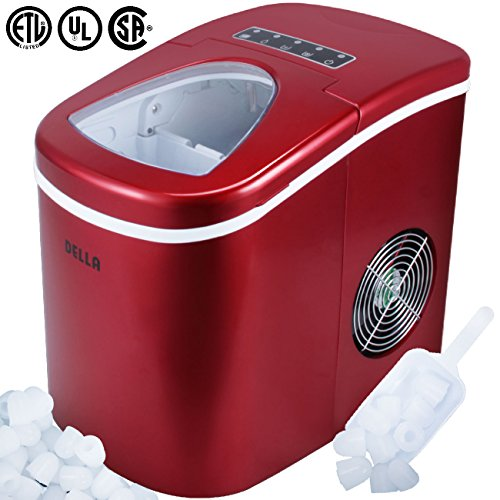 Della Portable Ice Maker w/Easy-Touch, Yield Up To 26 Pounds of Ice...