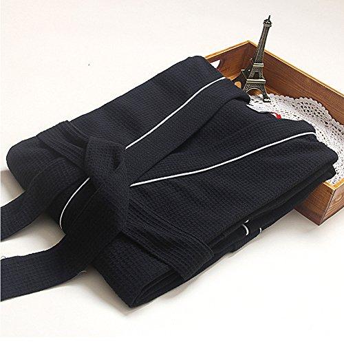 Sauna Donna Vestiti e Unisex Nero Tipo Vestaglia Accappatoio Collare Soft V per Uomo Veste 5TSwg8zq