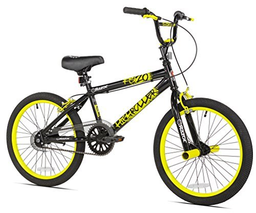Razor High Roller BMX/Freestyle Bike 20-Inch Yellow [並行輸入品] B07BFVNTGY