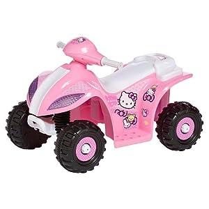 kidtrax hello kitty 6v quad atv kids electric ride on