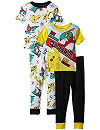 Pokemon Boys Cotton Pajamas 2-Pack Sizes 4-10