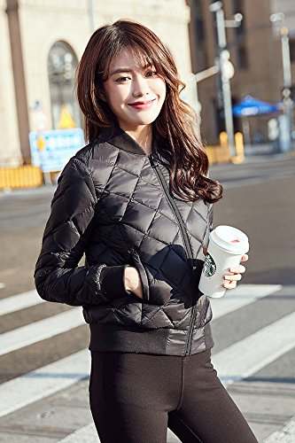 2785785334 Amazon.com   2018 autumn and winter slim down jacket women short paragraph  Korean version Slim thin coat collar fashion for women girl   Beauty