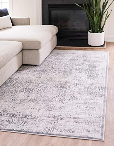 Unique Loom Aberdeen Collection Traditional Textured Vintage Gray Area Rug 9 0 x 12 0