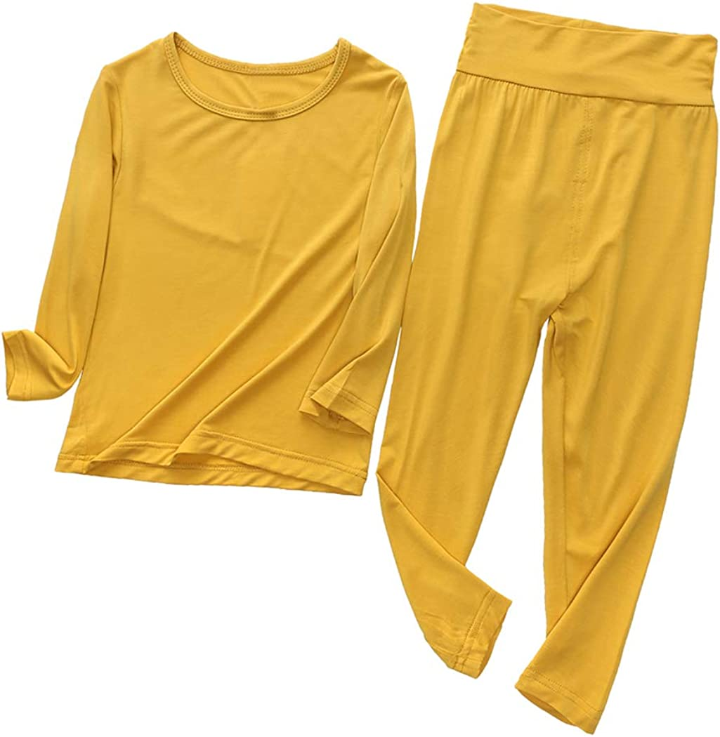 Mary ye 2pcs Set 9M-7T Kids Boys Girls Cotton Long Thermal Underwear Pajama Set
