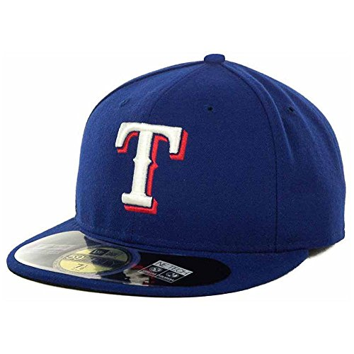 (MLB Texas Rangers Authentic On Field Game 59FIFTY Cap, Royal, Blue, 7 3/4)