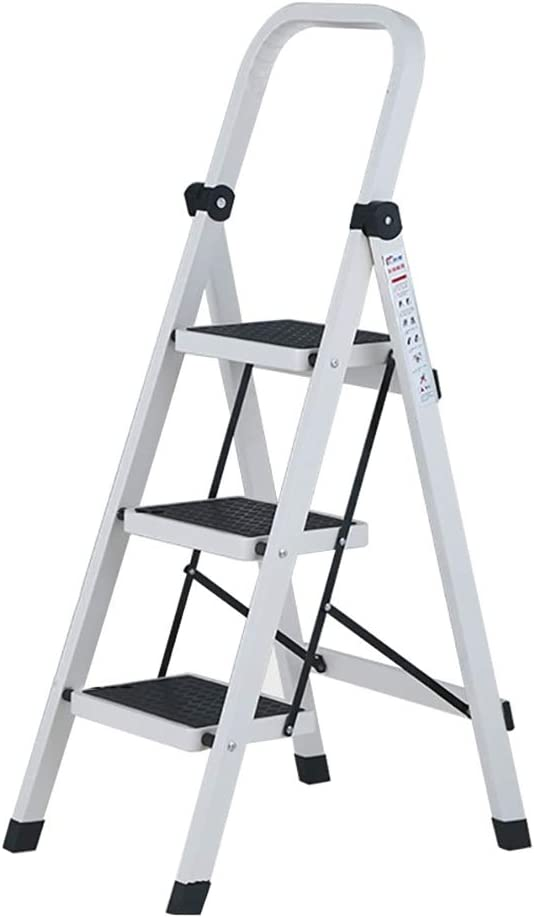 LXF Escaleras plegables Escalera de pedal ancha con pasamanos, escaleras de tijera de acero al carbono para trabajo pesado, seguridad antideslizante (Tamaño : 3 Tier): Amazon.es: Bricolaje y herramientas