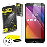 CaseBase® Premium Tempered Glass Screen Protector TWIN PACK for Asus Zenfone 2 (ZE551ML - ZE550ML)** DOUBLE GLASS ** 2 in 1
