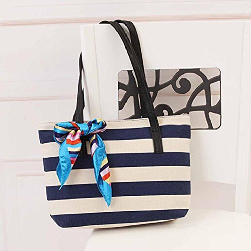 10CM 25CM Pattern W Striped Cloth 38CM Women Silk Longra® Canvas L Dark Bag Blue Send Handbag Randomly Shoulder Women Color Messenger H YwxBPqOO
