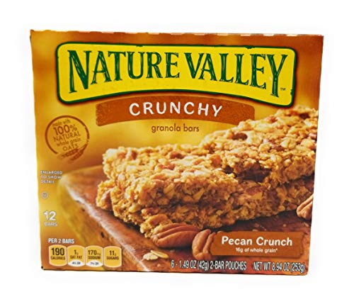 Nature Valley, Crunchy Granola Bars, Pecan Crunch, 8.9oz Box (Pack of 4)
