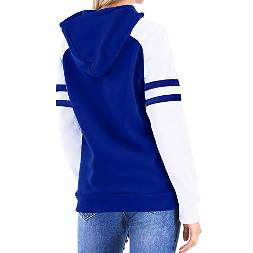 Red Ta Women Autumn Winter Color Block Long Sleeve Casual Round Neck Tunic Tops Hoodies Pullover Sweatshirt by Red Ta (Image #2)