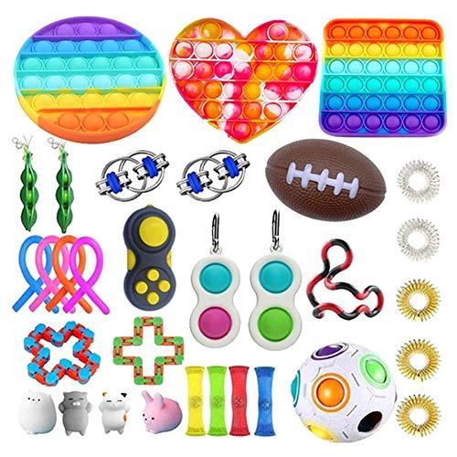 Herbests Sensory Fidget Toys Set Fidget Toys Packs, Fidget Toys Kit, Bubble Sensory Fidget Toys Kit voor…