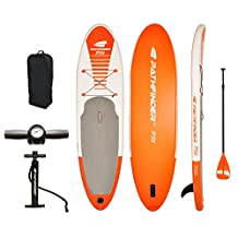 Vilano PathFinder SUP 10-Feet (5-Inch Thick) Inflatable Stand Up Paddleboard Set Orange
