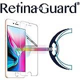 RetinaGuard Anti-Blue Light Tempered Glass Screen Protector for iPhone 8 - SGS & Intertek Tested - Blocks Excessive Harmful Blue Light, Reduce Eye Fatigue and Eye Strain (Transparent)