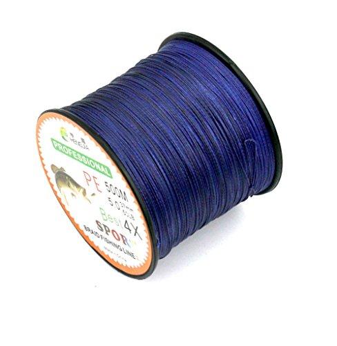 Maoko 500M/550 Yards PE 4 Braided Line/Dyneema/Superline Fishing Line 80lb / 50lbs / 30lb for Sea Freshwater Fishing Purple