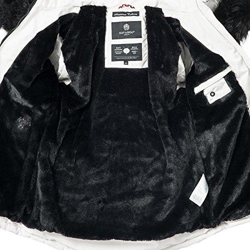 Sintético Colores Negro Xs Mujer xxl Con Capucha De Nirvana Invierno Navahoo Blanco 7 Para Pelo Chaqueta vO7nzqxwT