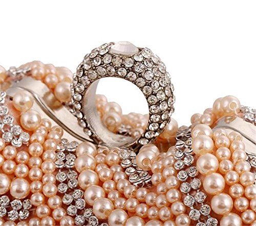 Pochette Robe Perlé Sacs Femme Portefeuille white WBAG Mariage Diamante Soirée 4Etq0wF