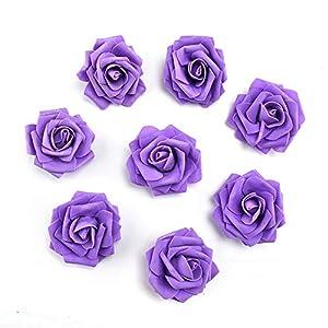 fake flowers heads Artificial PE Foam Roses Flowers for Home Wedding Decoration Scrapbooking Handmade Kissing Balls 20pcs 7cm 5