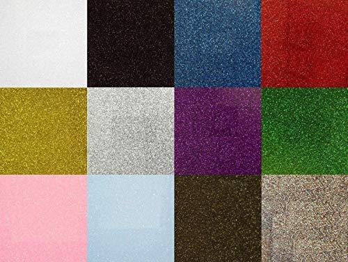 Siser Glitter Heat Transfer Vinyl for T-Shirts 12 Color Star