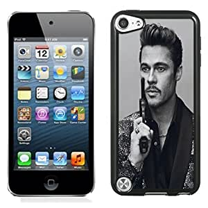New Personalized Custom Designed For iPod Touch 5th Phone Case For Brad Pitt with A Pistol Phone Case Cover