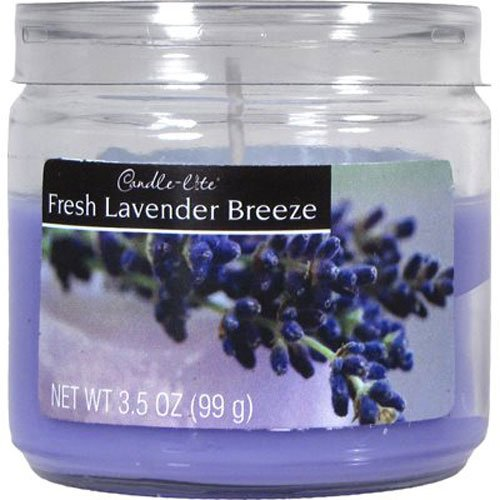 Candle-lite Essentials 3-1/2-Ounce Jar Candle, Fresh Lavender Breeze 2400404