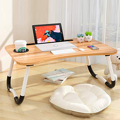 Generic Multipurpose Laptop Table with Dock Stand & Non-Slip Legs Foldable and Portable Lapdesk for Study & Bed