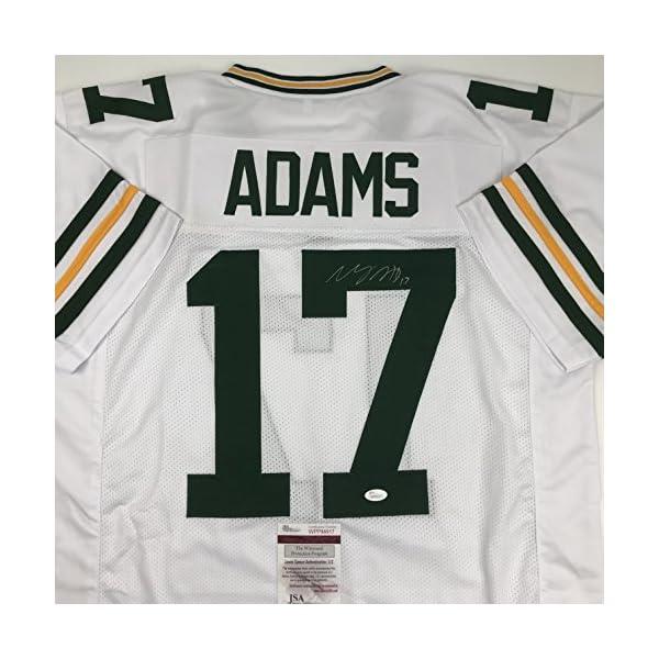 5d088607f Autographed Signed Davante Adams Green Bay Packers White Football Jersey  JSA COA 51mVOfuuHLL