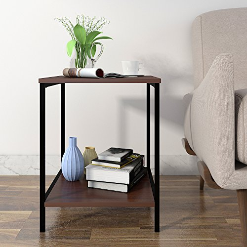 Table End Table, Nightstand, Coffee Table for Bedroom Living Room, Modern Collection, Brown (Bedroom Coffee Table)