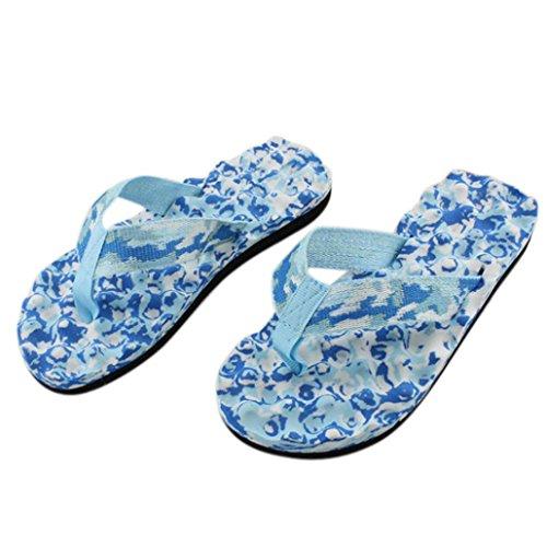 Tefamore Mujer atractivo Sra zapatillas de camuflaje sandalias Azul