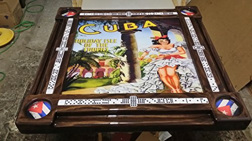 Nostalgic Cuban Poster Domino Table by Domino Tables by Art