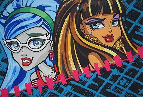 All Ghouls Allowed Monster High 100% Microfiber (Pillowcase Only) Size STANDARD Boys Girls Kids - Monster Girl High American